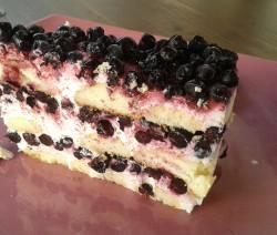 Mražený smetanovo borůvkový dort