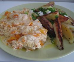 Kuře s mrkví a hořčicovou omáčkou