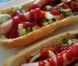Domácí hot dog